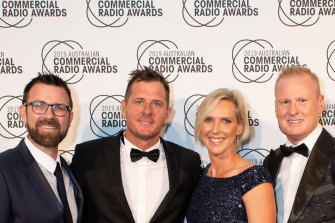 Nova's Brisbane breakfast team of Kip Wightman (left), Ash Bradnam, Susie O'Neill and David Lutteral have been toppled after four straight survey wins.