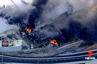 The aircraft crashed into the DFO shopping centre seconds after taking off from Essendon Airport.