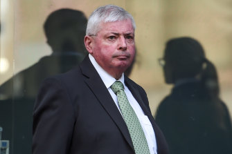 Michael Aulsebrook outside court in 2016.