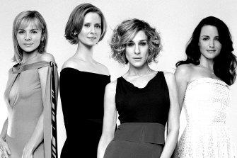 Sex and the City's original cast: Kim Cattrall as Samantha Jones, Cynthia Nixon as Miranda Hobbes, Sarah Jessica Parker as Carrie Bradshaw and Kristin Davis as Charlotte York.