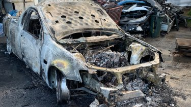 A stolen ute recovered by a Geelong tow company was torched overnight.