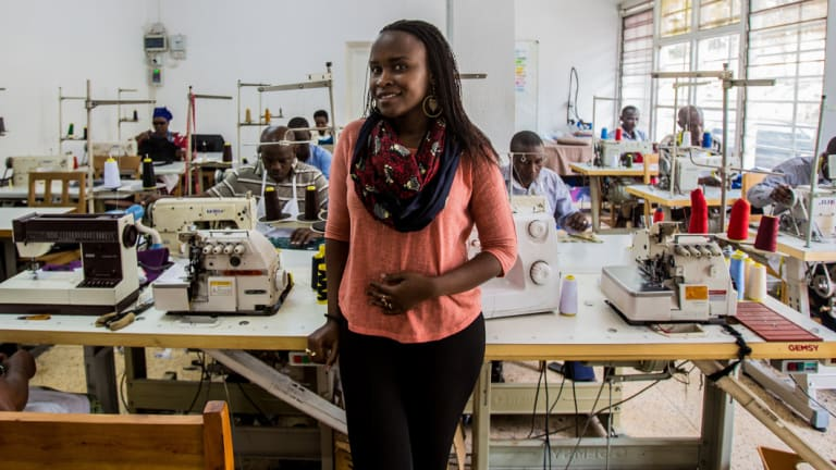 "Rwanda Clothing founder Joselyne Umutoniwase: ""Rwandans like dressing up."""