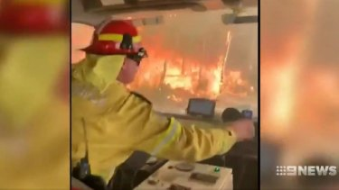 Firefighters faced difficult conditions as bushfires spread across the state on Thursday.