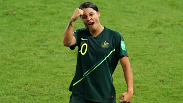 Matildas skipper Sam Kerr is Australia's trump card.