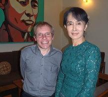 Sean Turnell with Aung San Suu Kyi.