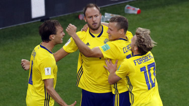 Staying focused: Sweden are hoping to cause an upset.