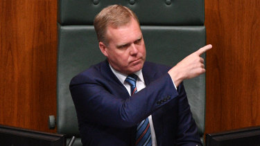 Speaker Tony Smith during question time.