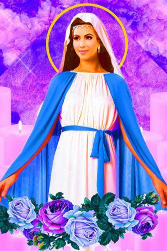 New York artist Hannah Kunkle's provocative depictionof Kim Kardashian as Jesus.