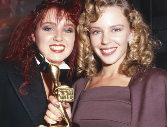 Kylie Minogue, pictured with her sister Dannii, struck gold in 1988.