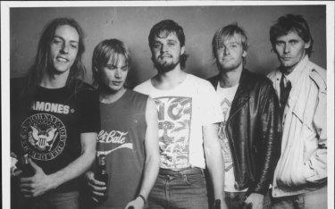 The Celibate Rifles, from left: David Morris , Kent Steedman, Mykl Coovret, Phil Jacquet, Damien Lovelock, 1986.