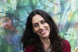 Artist Gabbi Lancaster at her home in Maroubra.