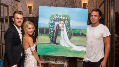 You may paint the bride: How live art joined the wedding party