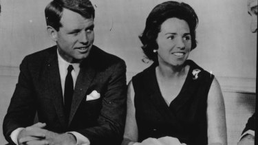 Robert Kennedy and his wife, Ethel.