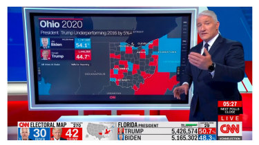 CNN's chief national correspondent John King crunches the data on election night.