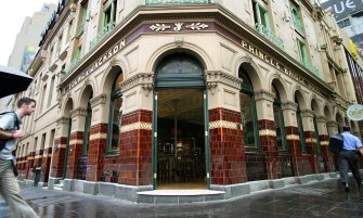 The Young & Jackson hotel on the corner of Swanston and Flinders streets in Melbourne.