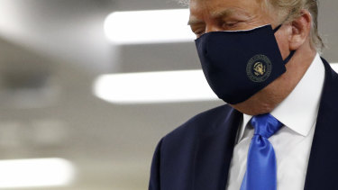 US President Donald Trump wore a face mask at the Walter Reed National Military Medical Centre.