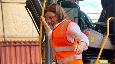 LNP Leader Deb Frecklington in Rockhampton today