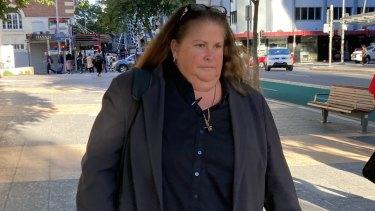 Detective Sergeant Virginia Gray leaves the Brisbane Magistrates Court last Thursday.
