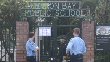 Police were called to the school around 7.20am to respond to reports of a stabbing.