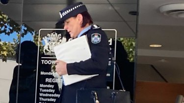 Inspector Sharee Cumming leaves Toowoomba Courthouse on Thursday afternoon.
