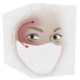 Apply bronzer in a C-shape around each eye.