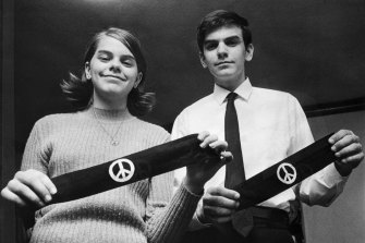 Mary and John Tinker, siblings who went to the US Supreme Court in 1969 for the right to wear black armbands to protest against the Vietnam War.