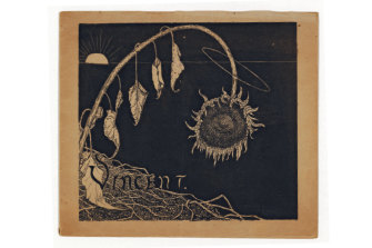 The cover of an 1892 Van Gogh exhibition catalogue inAmsterdam.