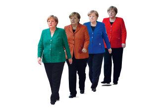 True colours: German Chancellor Angela Merkel.