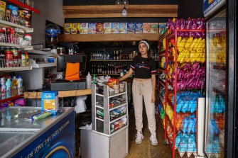 Noujoud Hamieh says power cuts have cost the store she works in dearly.
