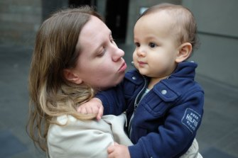 Two-year-old Isaac Oehlers with his mother, Sarah Copland. Isaac was the youngest victim of the Beirut blast on August 4, 2020.