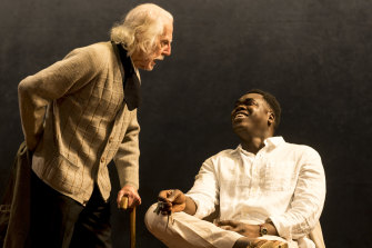 Peter Carroll and Mandela Mathia in The Cherry Orchard.