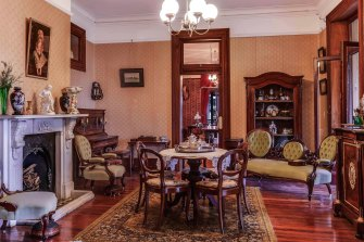 Inside Brisbane's Newstead House before the renovation program where 5000 pieces are now being carefully stored away began last month.