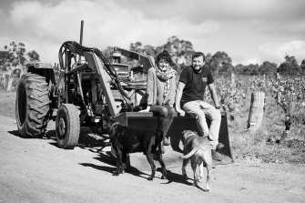 Si Vintners' Sarah Morris and Iwo Jakimowicz at their property in the Margaret River region.