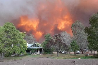 Fire in Gippsland on New Year's Eve.