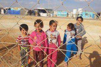 Syrian children in the Zaatari refugee camp in northern Jordan, November 2017.