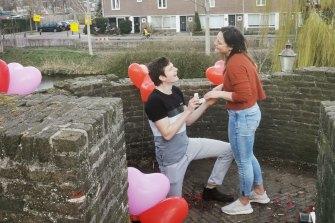 Simon Van Oordt proposed to Alicia Tucker in March in the Netherlands.