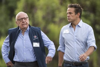 Lachlan Murdoch (picture with Rupert) is making big bets on wagering in the US and Australia.