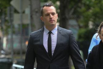 Roland Jones, left, arriving at the Coroner's Court on Wednesday morning.