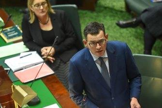 Premier Daniel Andrews in State Parliament last week.