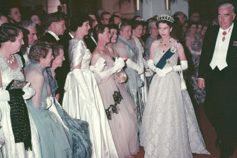 The young Queen Elizabeth with Sir Robert Menzies in Canberra in 1954 during her first tour.