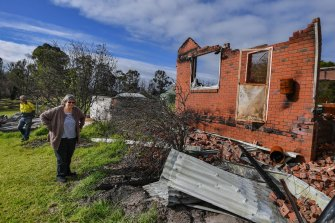 Lyn and Allan Wallwork at their Sarsfield property in June.