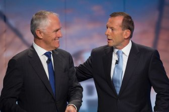 Tony Abbott (right) toppled Malcolm Turnbull as Liberal leader in 2009.