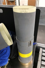 American officials say they've found a missile launcher in a man's luggage at the airport in Baltimore.