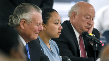 Cyntoia Brown during her clemency hearing at the Tennessee Prison for Women in Nashville, Tennessee.