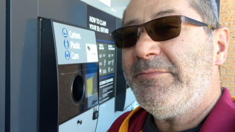 "Garry Smith complains that people are bringing large numbers of cans and bottles from the ACT to the Queanbeyan ""return and earn"" machine."