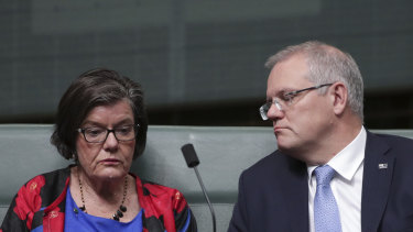 Cathy McGowan with Prime Minister Scott Morrison
