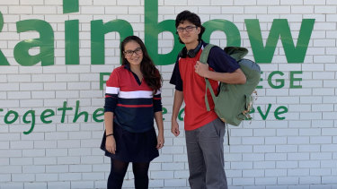 Alannah James and Jeremy James attend Rainbow P-12 College, in the state's Mallee region.