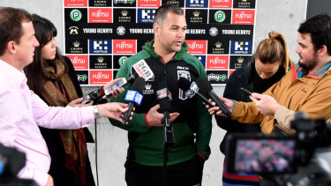 Fine print: Contracting Anthony Seibold would appear to hand power to player manager Isaac Moses at the Broncos.