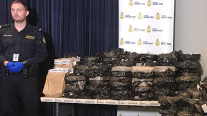 Two charged after police say 1.2 tonnes of ephedrine found in furniture shipment