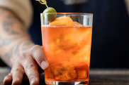 A cocktail at Dante